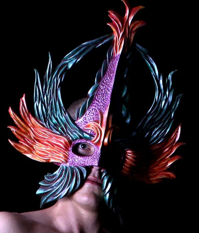 Crowned Glory Mardi Gras Mask, Modeled