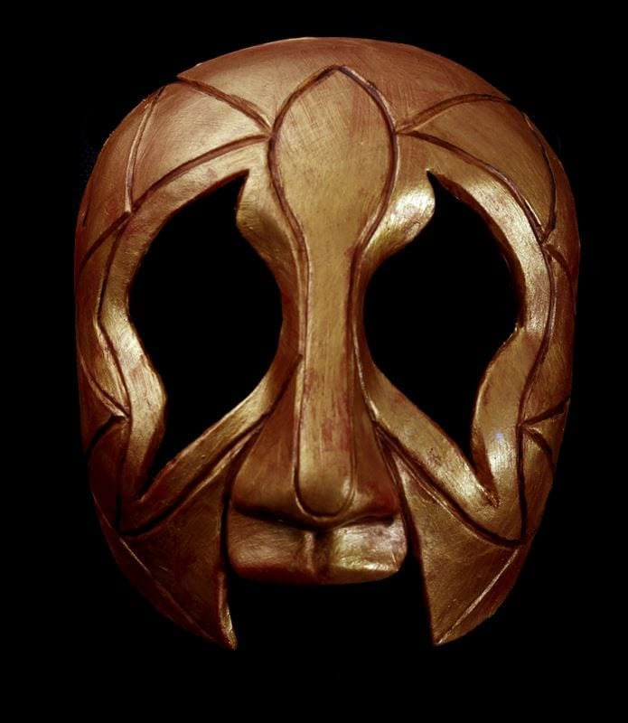 Golden Gras Man Mardi Gras Half Mask