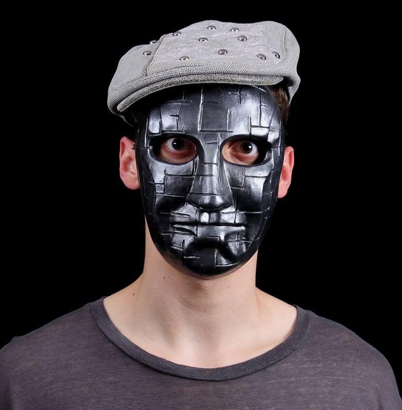 Mardi Gras Line Mask, Modeled
