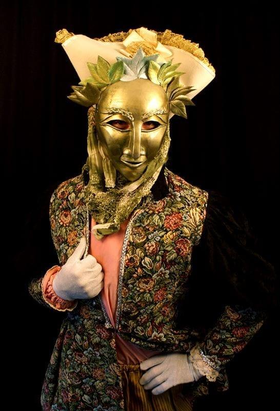 Princeness Mardi Gras Mask, Modeled