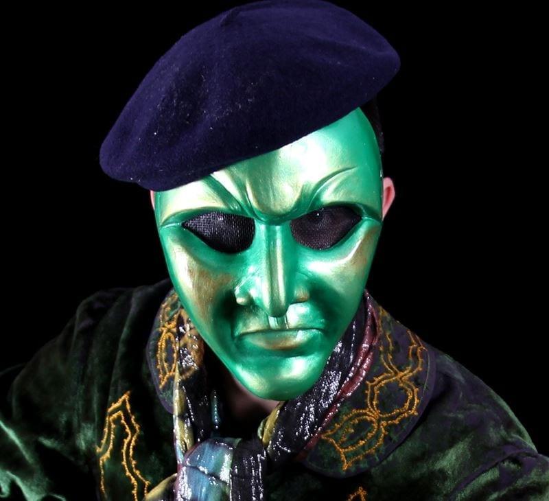 Volto Mardi Gras Mask, Modeled