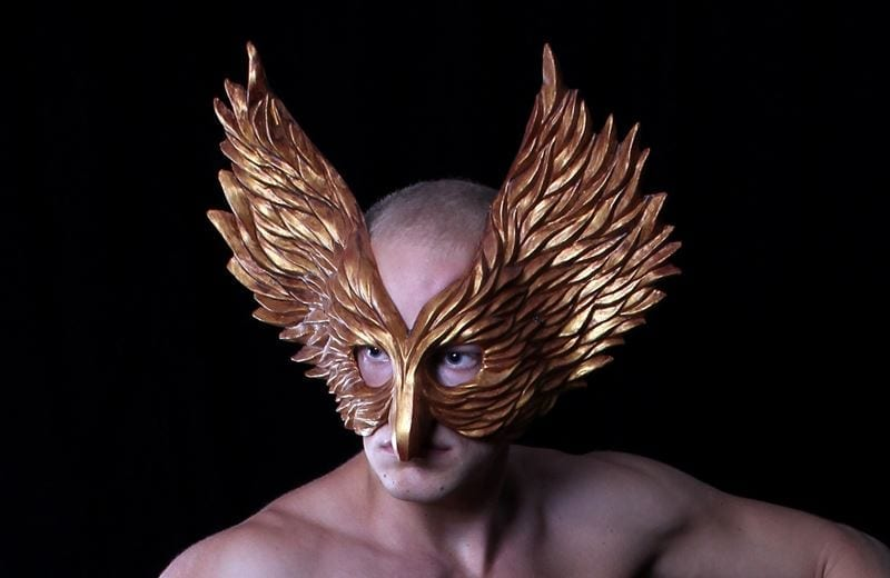 Winged Glory Mask, Gold, Modeled
