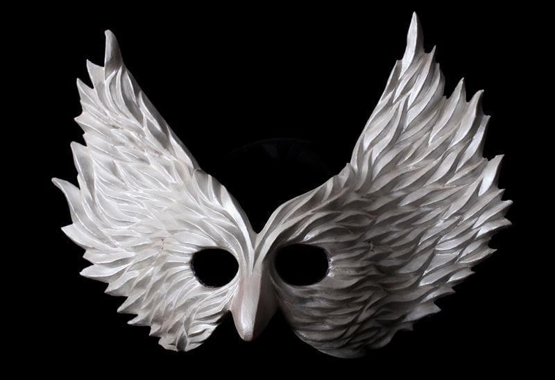 Winged Glory Mask, White