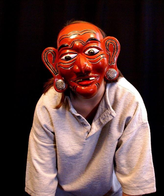 Modeled Merdah Mask