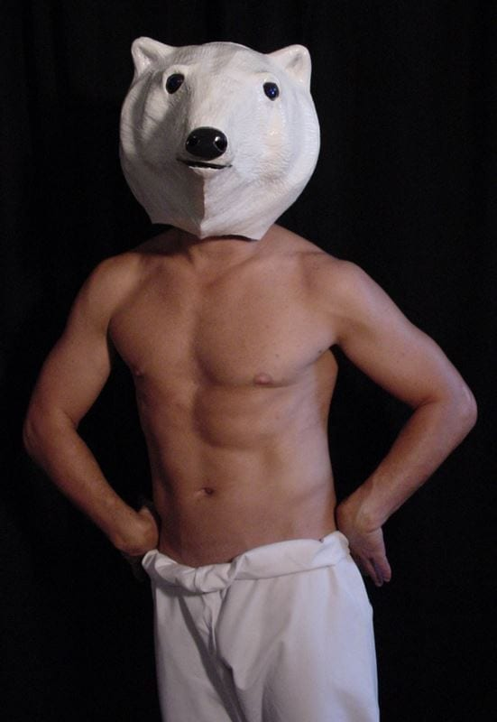 Modeled Polar Bear Mask, View 1