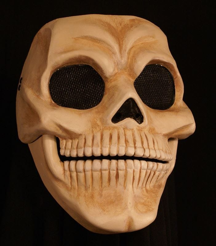 Skull Mask with Moveable Jaw, View 2