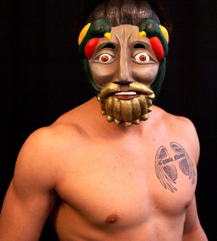Modeled Tecun Uman Character Mask