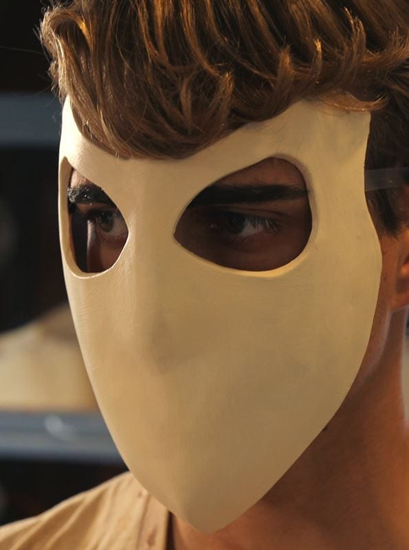 The Elite Character Mask, Modeled, Left Side View