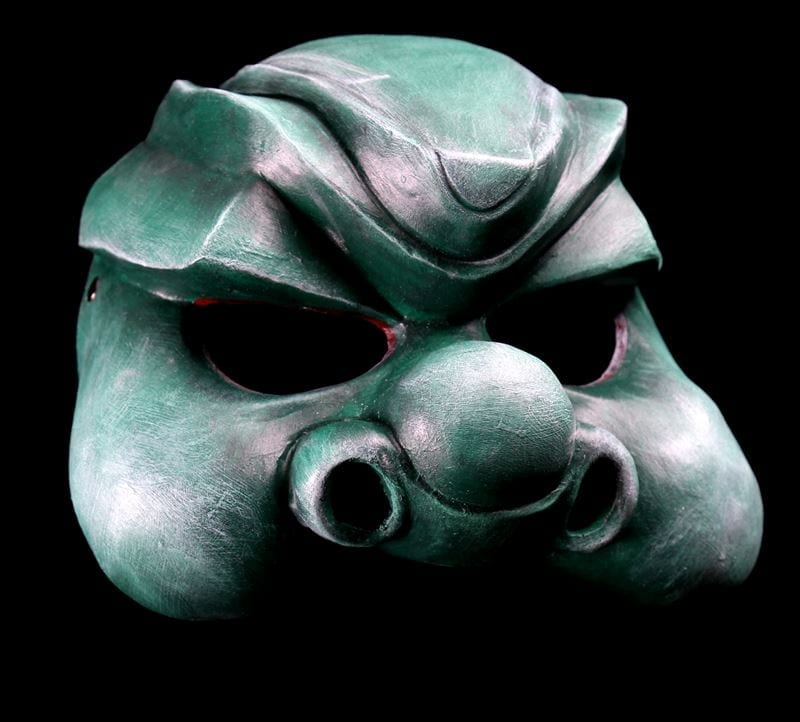 Green Peer Gynt Troll Half Mask