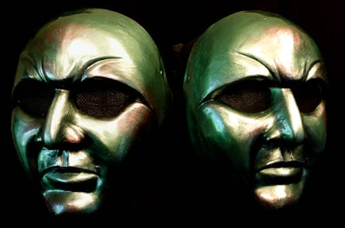 Volto Mardi Gras Mask, Side Views