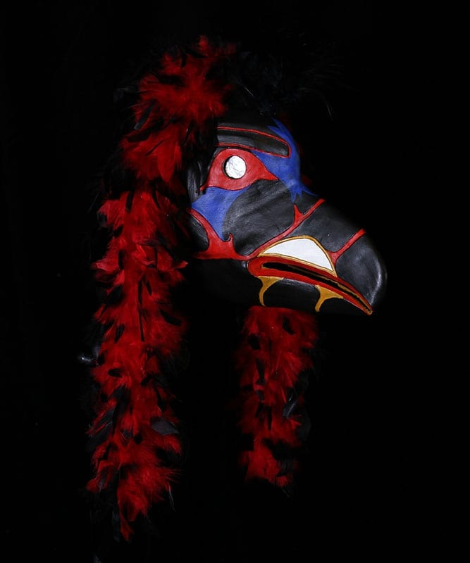 Profile View of Raven Mask