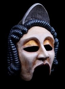 greek theatre mask nobel woman