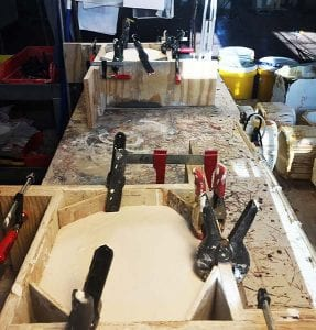 Creating Plaster Molds for A Post electric Play