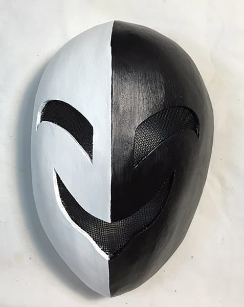 black and white smile latex mask