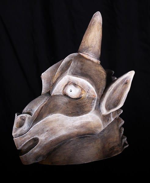gargoyle head piece